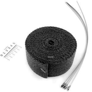 【メーカー在庫あり】 HDS18610669 キジマ インポート マフラー用断熱材 巻き付け式 2インチ 長さ25フィート(7.5m) 黒 HD店|hirochi2