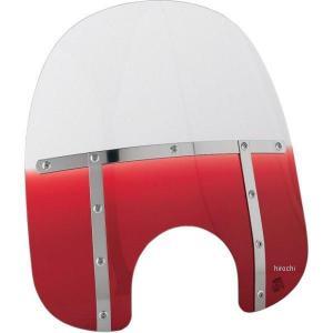 【USA在庫あり】 MEM3312 メンフィスシェード Memphis Shades ウインドシールド ファット 19インチ高/ライト幅7インチ 赤 HD店|hirochi2