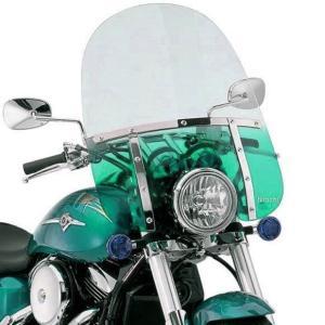 【USA在庫あり】 MEM3413 メンフィスシェード Memphis Shades ウインドシールド ファット 21インチ高/ライト用カット幅7インチ 青緑色 HD|hirochi2