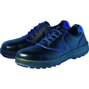 SL11BL23.5 400-7271 (株)シモン シモン 安全靴 短靴 SL11-BL黒/ブルー 23.5cm