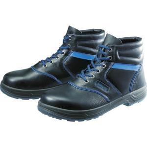 SL22BL23.5 435-1363 (株)シモン シモン 安全靴 編上靴 SL22-BL黒/ブルー 23.5cm