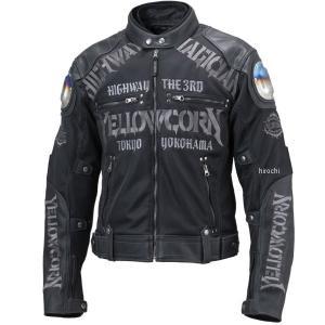 YB-9109 イエローコーン YeLLOW CORN 2019年春夏モデル メッシュジャケット 黒/黒 Mサイズ HD店|hirochi2