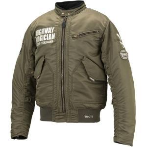 【即納】 YB-9302 イエローコーン YeLLOW CORN 2019年秋冬モデル ウインターMA-1 シングルジャケット カーキ LLサイズ HD店|hirochi2