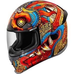 【USA在庫あり】 0101-10155 アイコン ICON フルフェイスヘルメット Airframe Pro Barong 赤 3XLサイズ JP店|hirochi