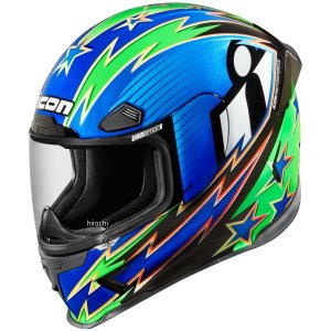 【USA在庫あり】 0101-10678 アイコン ICON フルフェイスヘルメット Airframe Pro WarBird 青 3XLサイズ(65cm-66cm) JP店|hirochi