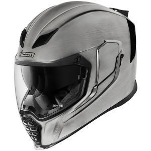 【USA在庫あり】 0101-10846 アイコン ICON フルフェイスヘルメット Airflite Quickシルバー シルバー 3XLサイズ(65cm-66cm) JP店|hirochi