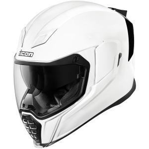 【USA在庫あり】 0101-10867 アイコン ICON フルフェイスヘルメット Airflite Gloss 白 3XLサイズ(65cm-66cm) JP店|hirochi