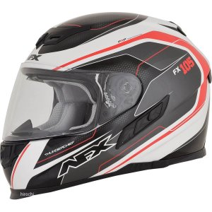 【USA在庫あり】 0101-9734 AFX フルフェイスヘルメット FX-105 チーフ 赤 Mサイズ (58cm-59cm) JP店|hirochi
