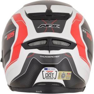 【USA在庫あり】 0101-9736 AFX フルフェイスヘルメット FX-105 チーフ 赤 XLサイズ (62cm-63cm) JP店|hirochi|03