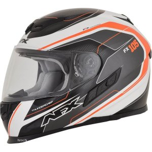 【USA在庫あり】 0101-9758 AFX フルフェイスヘルメット FX-105 チーフ オレンジ Lサイズ (60cm-61cm) JP店|hirochi