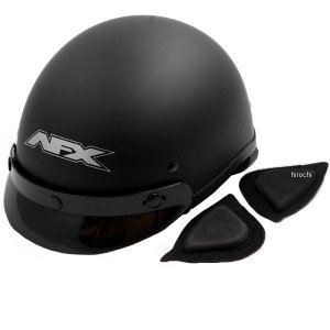 【USA在庫あり】 0103-0434 AFX ハーフヘルメット FX-70 Beanie 黒(つや消し) XXLサイズ (63cm-64cm) JP店 hirochi