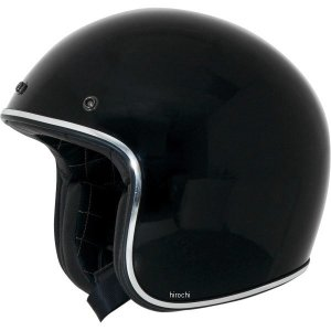 【USA在庫あり】 0104-1129 AFX ジェットヘルメット FX-76 黒/クロームトリム XSサイズ (53cm-54cm) JP店|hirochi