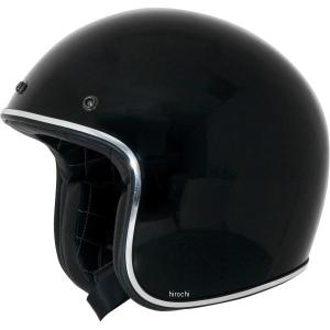 【USA在庫あり】 0104-1131 AFX ジェットヘルメット FX-76 黒/クロームトリム Mサイズ (57cm-58cm) JP店|hirochi