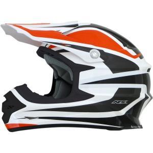 0110-4114 AFX ヘルメット FX-21 アルファ オレンジ/ホワイト Lサイズ (60cm-61cm) JP|hirochi