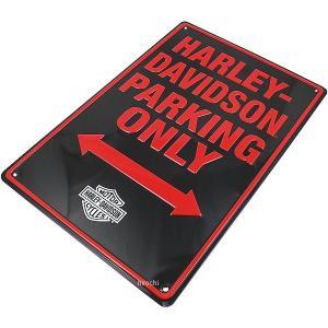 ライズ RIDEZ ハーレーダビッドソン エンボスメタルサイン Parking Only サイズ:W...