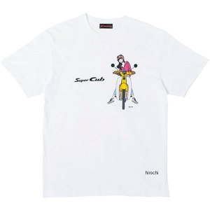 ホンダ純正 2019年秋冬モデル Tシャツ SUPER CUB イラスト サイズ:L カラー:Bタイ...