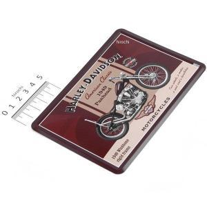 【即納】 10-198 ハーレー純正 ポストカード(ブリキ製) 10cm×14cm ドイツ製(Nostalgic Art社) 1949 Panhead JP店|hirochi