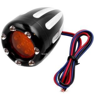 【USA在庫あり】 12-753 アレンネス Arlen Ness LED ウインカー ディープカット ダブル球仕様 黒/アンバー (1個売り) JP店|hirochi