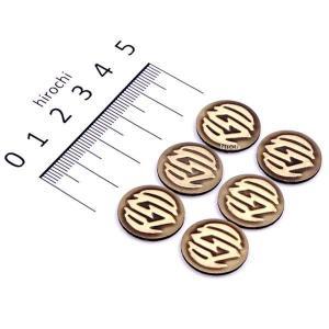 0208-2067 ローランドサンズデザイン RSD バッジキット RSDロゴ 真鍮 6個入り JP店|hirochi