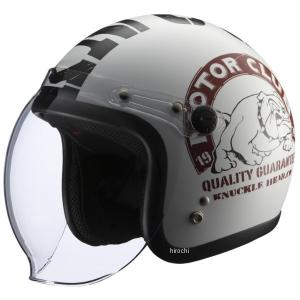 【メーカー在庫あり】 4527625092570 ナックルヘッド KNUCKLE HEAD BULL2 白/黒 (57-60cm) JP店 hirochi