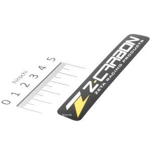 【メーカー在庫あり】 ZC50-0110 ジータ ZETA Z-CARBON ステッカー 100x16mm 黒/黄 JP店|hirochi