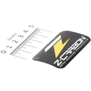 【メーカー在庫あり】 ZC50-0120 ジータ ZETA Z-CARBON ステッカー 60x36mm 黒/黄 JP店|hirochi