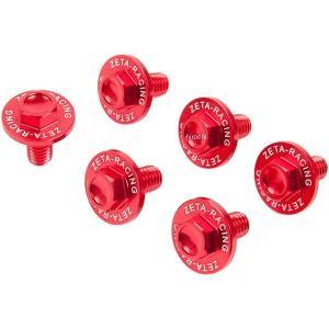 【メーカー在庫あり】 ZE88-9302 ジータ ZETA フォークガードボルトセット 08年-15年 RM-Z450、RM-Z250、RMX450Z 赤 JP店|hirochi