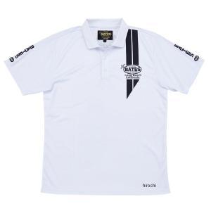 【即納】 BAT-P10M ベイツ BATES 2019年春夏モデル クールテックスポロシャツ 白 Lサイズ JP店 hirochi