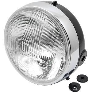 【メーカー在庫あり】 HM20 シビエ CIBIE ヘッドライト MOTO180φ H4 12V60/55W クリア/ブラックボティ JP店|hirochi