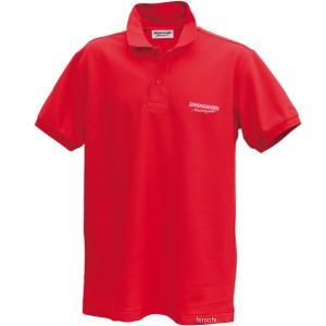 5160 9393 51609393 ブリヂストン BRIDGESTONE ポロシャツ II レーシング 赤 Lサイズ JP店|hirochi