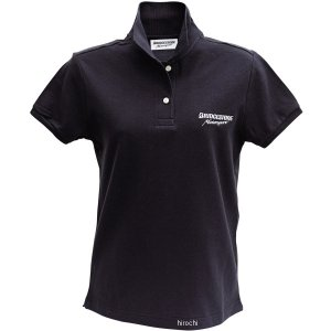 5160 9406 51609406 ブリヂストン BRIDGESTONE ポロシャツ II レーシング レディース 黒 WLサイズ JP店|hirochi