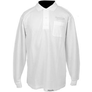 5160 9407 51609407 ブリヂストン BRIDGESTONE ロングスリーブ ポロシャツ II レーシング 白 Mサイズ JP店|hirochi
