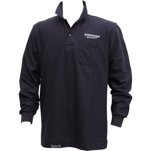 5160 9410 51609410 ブリヂストン BRIDGESTONE ロングスリーブ ポロシャツ II レーシング 黒 Mサイズ JP店|hirochi