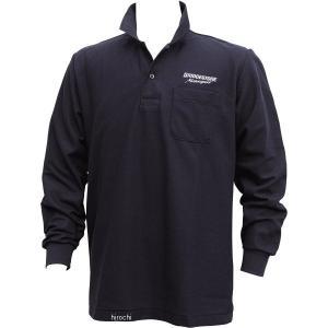 5160 9411 51609411 ブリヂストン BRIDGESTONE ロングスリーブ ポロシャツ II レーシング 黒 Lサイズ JP店|hirochi