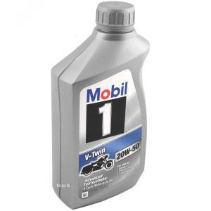 【USA在庫あり】 533100 モービル Mobil 100%化学合成 4スト V-Twin エンジンオイル 20W50 1クォート (946ml) JP店|hirochi