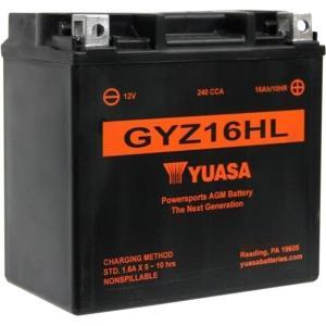 【USA在庫あり】 581367 GYZ16HLUSA ユアサ YUASA バッテリー GYZ メンテナンスフリー 04年以降 XL(最高級版) JP店|hirochi