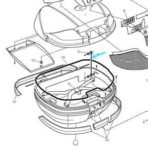 GIVI モノキーケース用 開口制御プラスチック Z599 V46シリーズ補修パーツ E41シリーズ...