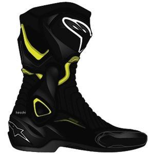 8021506618171 アルパインスターズ Alpinestars 春夏モデル ロードレーシングブーツ SMX-6 V2 黒/蛍光黄 44サイズ (28.5cm) JP店|hirochi