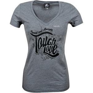 【USA在庫あり】 879662 スピードアンドストレングス Tシャツ Vネック 女性用 Tough Love グレー WLG JP店|hirochi