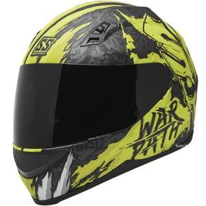 【USA在庫あり】 880802 スピードアンドストレングス フルフェイスヘルメット SS700 War Path 蛍光黄/黒/白 2XL (63cm-64cm) JP店|hirochi