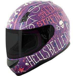 【USA在庫あり】 884390 スピードアンドストレングス フルフェイスヘルメット SS700 Hell's Belles 紫(つや消し)/クリーム XS (53cm-54cm) JP店|hirochi