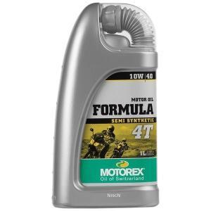 【USA在庫あり】 980048 モトレックス MOTOREX 半化学合成 4st エンジンオイル Formula 10W40 1リットル JP店|hirochi