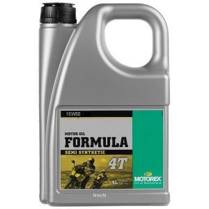 【USA在庫あり】 980051 モトレックス MOTOREX 半化学合成 4st エンジンオイル Formula 15W50 4リットル JP店|hirochi