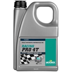 【USA在庫あり】 981498 モトレックス MOTOREX 100%化学合成 4st オイル Racing Pro 15W50 4リットル JP店|hirochi