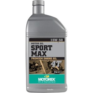 【USA在庫あり】 981518 モトレックス MOTOREX 鉱物油 4st エンジンオイル Sport Max 15W50 1リットル JP店|hirochi