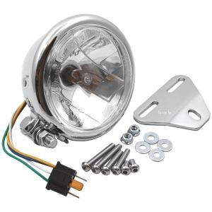【メーカー在庫あり】 HA5601CR-01 ハリケーン アメリカン系 ヘッドライトキット 4.5ベーツタイプヘッドライト ・スティード400/600 JP店 hirochi