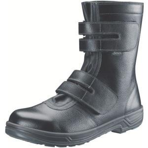 SS3826.0 368-3141 (株)シモン シモン 安全靴 長編上靴マジック式 SS38黒 26.0cm