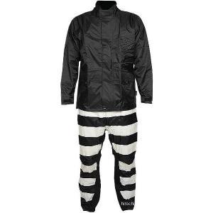 【即納】 TFR-1401-BK-IV-S TFR-1401 トゥエンティ・フォー・セブン カスタムレザース 24/7 Custom Leathers レインスーツ 黒/アイボリー Sサイズ JP店|hirochi