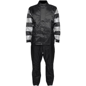 【即納】 TFR-1401-GY-BK-M TFR-1401 トゥエンティ・フォー・セブン カスタムレザース 24/7 Custom Leathers レインスーツ グレー/黒 Mサイズ JP店|hirochi