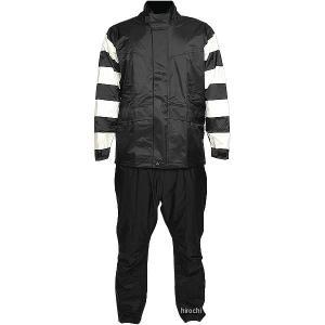 【即納】 TFR-1401-IV-BK-S TFR-1401 トゥエンティ・フォー・セブン カスタムレザース 24/7 Custom Leathers レインスーツ アイボリー/黒 Sサイズ JP店|hirochi